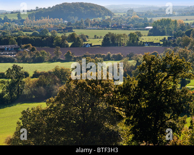 view from hanbury church worcestershire england uk the setting for the fictional village of ambridge in the radio - Stock Photo