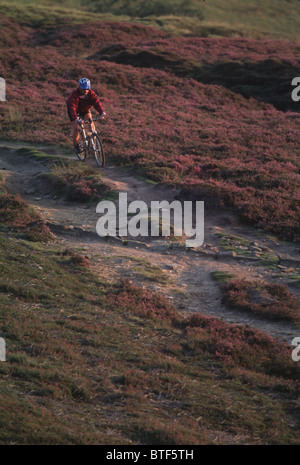 Mountain biking in the Peak District - Stock Photo
