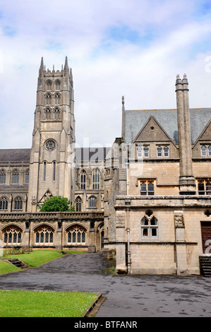 Downside Abbey in Stratton-on-the-Fosse, Somerset UK - Stock Photo