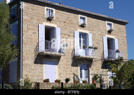 Leandri House, Porto Pollo, Corsica, France - Stock Photo