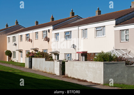 Council houses in Kirkby near Liverpool, UK - Stock Photo