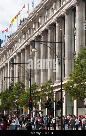 Selfridges department store in Oxford St, London, UK - Stock Photo