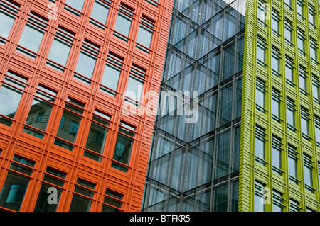 Modern Architecture London England colourful modern contemporary architecture, london, england stock