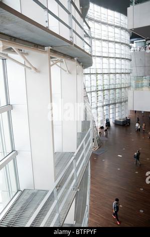 Interior of The National Art Center, Tokyo, Japan - Stock Photo