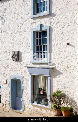 Georgian Sundials House on Bridge Street Richmond North Yorkshire England - Stock Photo