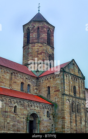Saints-Pierre-et-Paul Church, Rosheim, Bas-Rhin department, Alsace, France - Stock Photo