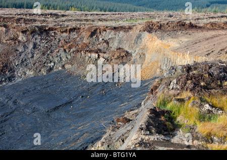Glentaggart open cast coal mine near Douglas, Lanarkshire, Scotland. - Stock Photo