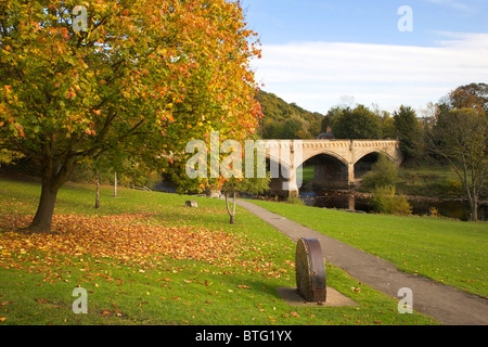 Mercury or Station Bridge from The Batts Richmond North Yorkshire England - Stock Photo