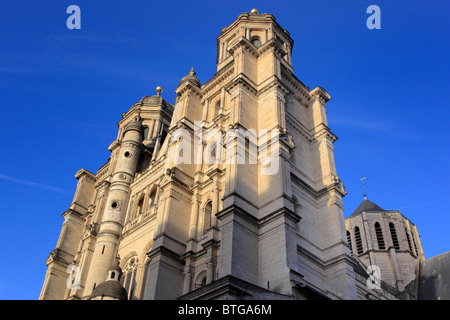 Saint-Michel Church, Dijon, Côte-d'Or departement, Burgundy, France - Stock Photo