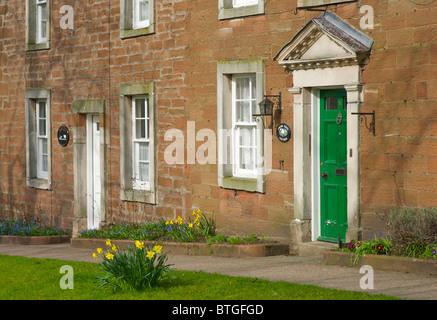Old sandstone houses on Bondgate, Appleby Cumbria England UK - Stock Photo