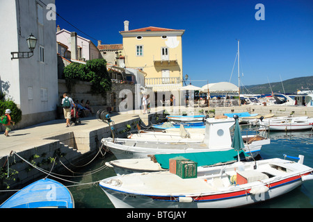 Port in Valun village on Cres Island, Croatia - Stock Photo