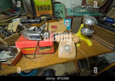 Don Garlits Museum of Classic Automobiles Ocala Florida room full of memorabilia - Stock Photo