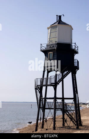 Lighthouse,wooden disused at Dovercourt,Essex - Stock Photo