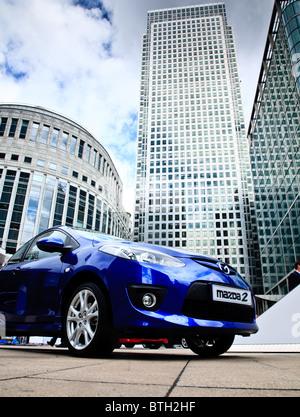 The Motor expo at Canary wharf, London - Stock Photo