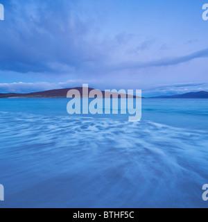 Morning light on Luskentyre beach, Isle of Harris, Outer Hebrides, Scotland - Stock Photo