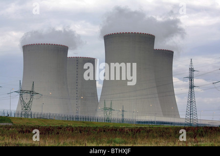 Nuclear power plant, Temelín, Czech Republic - Stock Photo