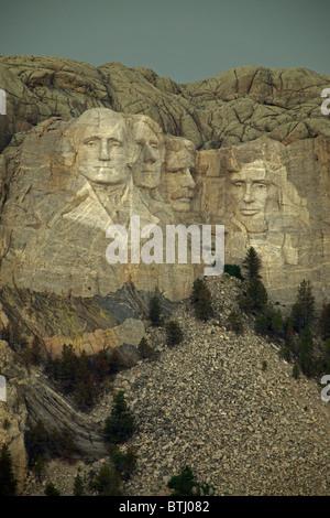 Mount Rushmore National Memorial - South Dakota - Commemorating American Presidents - Stock Photo
