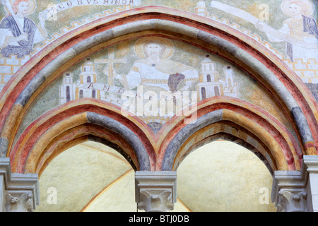 Interior of Saint George's Cathedral, Limburg an der Lahn, Hesse, Germany - Stock Photo