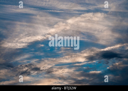 Stormy evening Altocumulus clouds - France. - Stock Photo