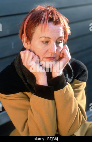 Mature woman depressed Stock Photo