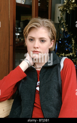 Christmas and young white woman looking unhappy - Stock Photo