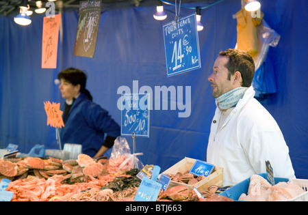 Fresh fish for sale at a fishmongers stall in traditional for Nearest fresh fish market