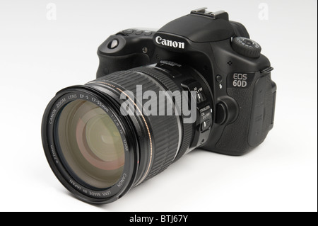 Canon 60D digital single lens reflex camera late 2010 launch with zoom lens - Stock Photo