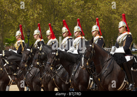 British Household Cavalry, Changing of the Horse Guards, Horse Guards, London, England, United Kingdom - Stock Photo