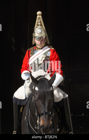 British Household Cavalry (Life Guards Regiment), Horse Guards, Whitehall, London, England, United Kingdom - Stock Photo