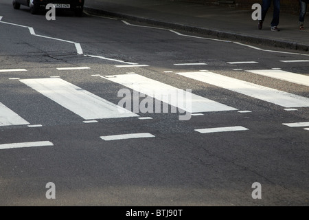Famous Pedestrian Crossing, Abbey Road, London NW8, England, United Kingdom - Stock Photo