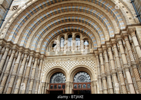 Entrance to Natural History Museum, London, England, United Kingdom - Stock Photo