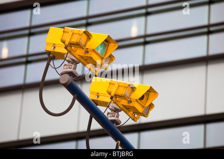 CCTV cameras for monitoring traffic on London's streets. UK