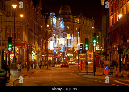 West End Theatres (Lyric, Apollo, and Gielgud), Shaftesbury Avenue, Soho, London, England, United Kingdom - Stock Photo
