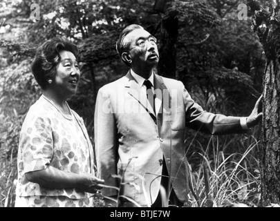 EMPRESS NAGAKO and EMPEROR HIROHITO, c. early 1960s - Stock Photo