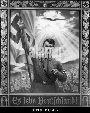ADOLF HITLER, 1933 painting entitled, 'Es lebe Deutschland,' commemorating the year Hitler came to power.  Everett/CSU - Stock Photo