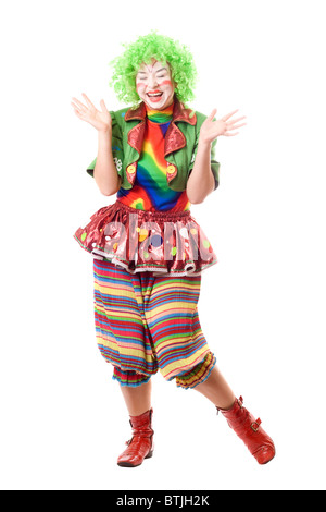 playful circus clowns - Stock Photo
