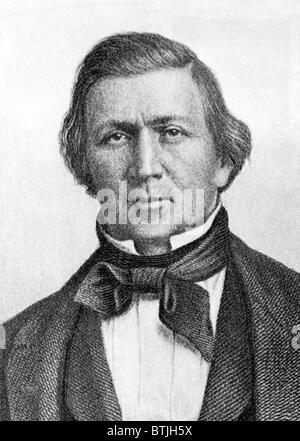 Brigham Young, (1801-1877), President of the Church of Latter Day Saints and Mormon Leader, c. 1830s. - Stock Photo
