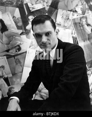 Hugh Hefner, editor-publisher of Playboy Magazine, ca 1950s. Courtesy CSU Archives/Everett Collection. - Stock Photo