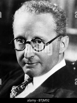Jerome Kern (1885-1945), American composer and songwriter, c. 1942. - Stock Photo