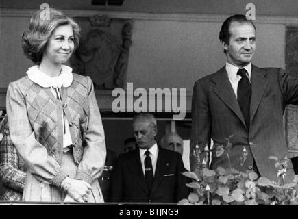 Queen Sofia and King Juan Carlos of Spain. ca. 1980s. Courtesy: CSU Archives/Everett Collection. - Stock Photo