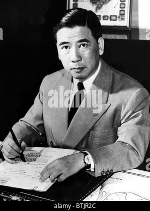 The first President of South Vietnam, Ngo Dinh Diem, 1961. - Stock Photo