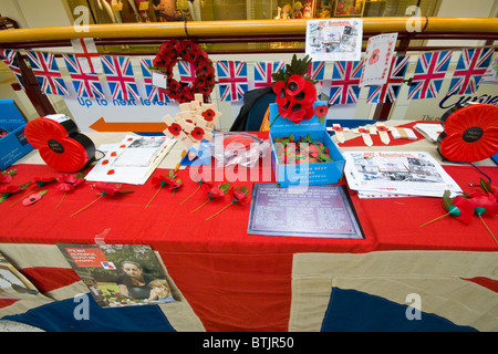 Royal British Legion Poppy Stall - Stock Photo