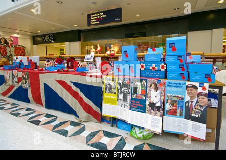Royal British Legion Poppy Stall - Stock Photo
