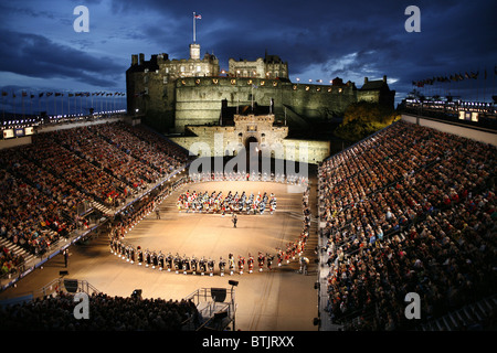 Edinburgh Military Tattoo, Edinburgh Castle, Edinburgh, Scotland - Stock Photo