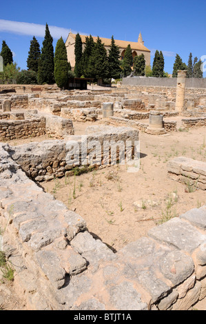 The remains of the Roman town of Pollentia, Alcudia, Majorca - Stock Photo