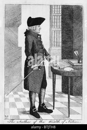 """Adam Smith (1723-1790) author of the 1776 classic book on economics, """"An Inquiry into the Nature and Causes of the - Stock Photo"""