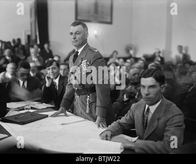 Colonel Billy Mitchell during his September 1925 was court marshal for 'insubordination,' specifically for his out - Stock Photo