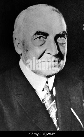 Warren G. Harding, 29th President of the United States (1921-1923). - Stock Photo