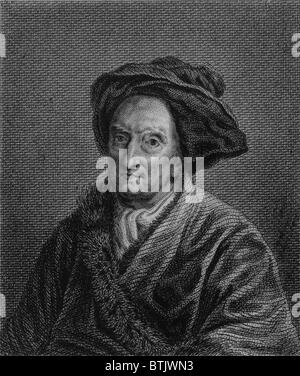 Bernard Le Bovier de Fontenelle (1657-1757), French scientist and intellectual of the Louis XIV era, whose work - Stock Photo