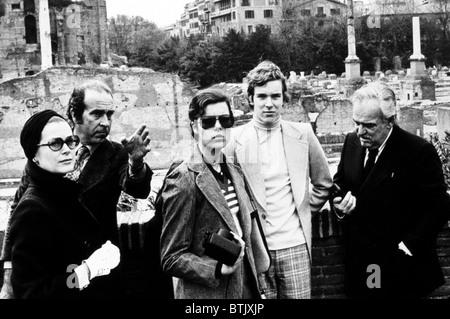 Princess Grace Kelly, Princess Caroline, Prince Albert, Prince Rainier in Rome, 1974 - Stock Photo
